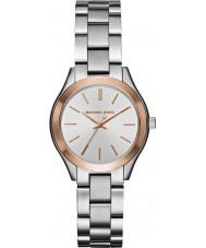 Michael Kors MK3514 Ladies mini slanke landingsbaan zilver stalen horloge