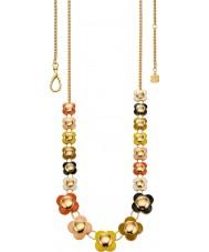 Orla Kiely N4021 Ladies daisy chain 18ct goud gekleurd multi lange bloem ketting