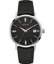 Bulova 96B243 Mens Aerojet zwart lederen band horloge