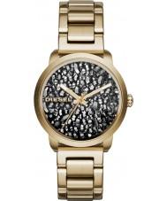 Diesel DZ5521 Ladies flare gouden stalen armband horloge