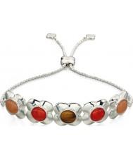 Orla Kiely B4851 Ladies sterling zilveren bloem toggle armband