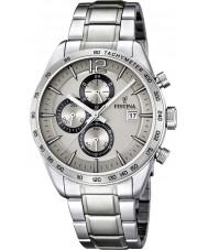 Festina F16759-2 Heren zilver stalen armband chronograaf