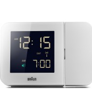 Braun BNC015WH-RC Witte digitale klok