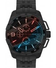 Diesel DZ4395 Mens zwaargewicht zwart staal chronograafhorloge