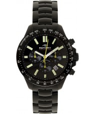 Rotary AGB00085-C-04 Mens AquaSpeed zwarte chronograaf horloge