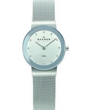 Skagen 358SSSD Ladies klassik Chroom Zilver mesh horloge