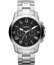 Fossil FS4736 Mens verlenen zwart zilver chronograafhorloge