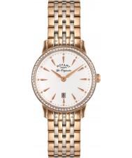 Rotary LB90057-06 Ladies les originales Kensington rose goud stalen horloge