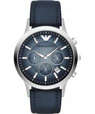 Emporio Armani AR2473 Heren Classic chronograaf zilveren blue watch