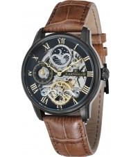 Thomas Earnshaw ES-8006-10 Mens lengte bruin leder automatisch horloge