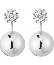 Dyrberg Kern 339282 Ladies edie zilveren koperen oorbellen met kristallen