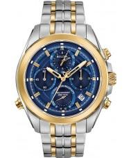 Bulova 98B276 Mens precisionist two tone gouden armband chronograafhorloge
