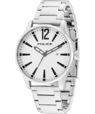 Police 14764JS-04M Mens Dallas zilveren stalen armband horloge
