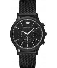 Emporio Armani AR2498 Mens klassieke zwarte stalen gaas watch