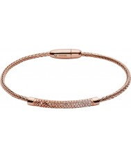 Fossil JA6766791 Ladies vintage glitter rose gold metallic flex bracelet
