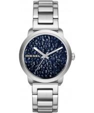 Diesel DZ5522 Ladies flare zilveren stalen armband horloge