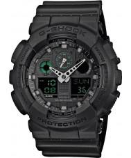 Casio GA-100MB-1AER Mens g-schok mat zwart kunststof band horloge