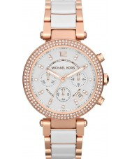 Michael Kors MK5774 Ladies parker two tone keramische chronograaf