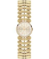 Orla Kiely OK4022 Ladies laurier hamilton vergulde horloge