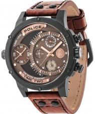 Police 14536JSB-12A Mens adder bruin lederen band horloge