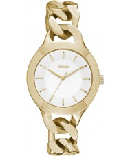 DKNY NY2217 Ladies kamers gouden stalen armband horloge