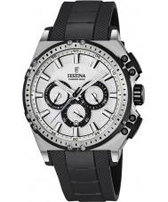 Festina F16970-1 Mens chrono fiets zwart rubber chronograafhorloge