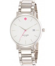 Kate Spade New York 1YRU0008 Ladies Gramercy grand zilveren stalen armband horloge