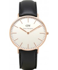 Daniel Wellington DW00100036 Dames klassieke Sheffield 36mm rose gouden horloge