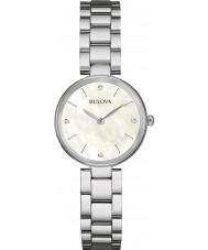 Bulova 96S159 Ladies diamant galerie zilveren stalen armband horloge