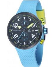 Spinnaker SP-5029-02 Mens dynamische lichtblauwe geïntegreerde siliconen band horloge