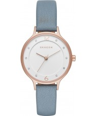 Skagen SKW2497 Ladies anita blauw lederen band horloge