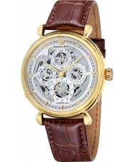 Edward East EDW6383G31 Heren Classic Broen lederen band automatisch horloge