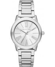 Michael Kors MK3489 Ladies Hartman zilveren stalen armband horloge