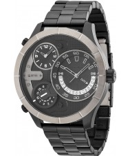 Police 14638XSBU-02M Mens Bushmaster zwarte stalen armband horloge