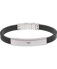 Emporio Armani EGS1882040 Mens handtekening zwart silicone armband