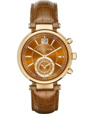 Michael Kors MK2424 Ladies zager chronograaf whisky lederen band horloge