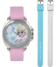 Frozen FZN3637 Meisjes elsa roze horloge met verwisselbare bandje
