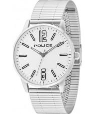 Police 14765JS-04M Mens Esquire zilveren stalen armband horloge