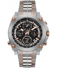Bulova 98G256 Mens precisionist zilveren chronograafhorloge