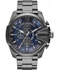 Diesel DZ4329 Mens mega chief gunmetal staal chronograafhorloge