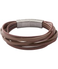 Fossil JF86202040 Heren Multi wrap armband bruin