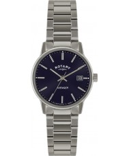 Rotary GB02874-05 Mens uurwerken wreker blauwe zilveren horloge