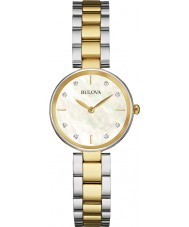 Bulova 98S146 Ladies diamant two tone stalen armband horloge