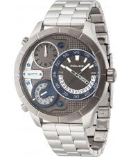 Police 14638XSTU-61M Mens Bushmaster zilveren stalen armband horloge