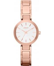 DKNY NY2400 Ladies stanhope rose gouden stalen armband horloge