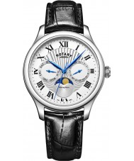 Rotary GS05065-01 Mens uurwerken maanstand zwarte chronograaf
