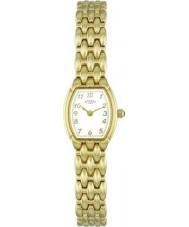 Rotary LB00779-18 Ladies uurwerken verguld horloge