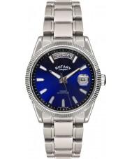 Rotary GB02660-05 Mens uurwerken havana blauwe zilveren horloge