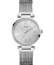 Guess W0638L1 Ladies soho zilveren stalen armband horloge