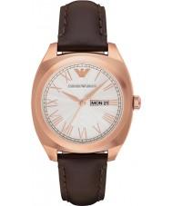 Emporio Armani AR1939 Mens klassieke bruine lederen band horloge